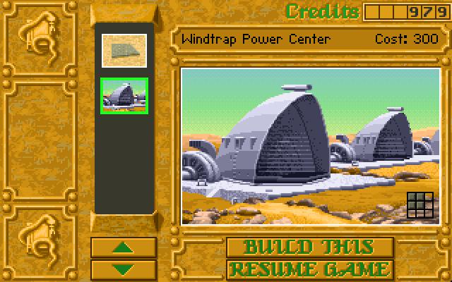 Le tout premier STR - Dune II : Battle for Arrakis (1992)